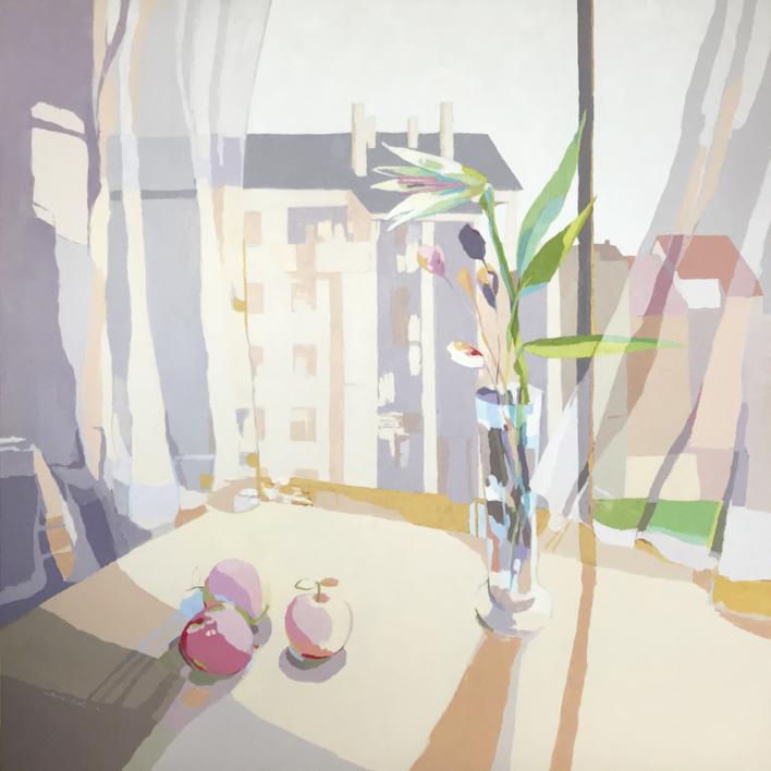 Tres manzanas |Pintura de Javier AOIZ ORDUNA | Compra arte en Flecha.es