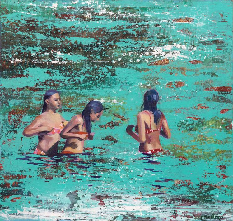 Sirenas |Pintura de Carmen Montero | Compra arte en Flecha.es