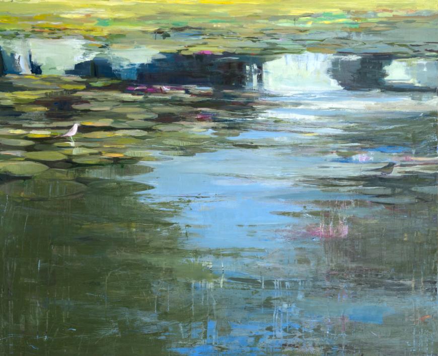 El estanque  Pintura de Carmen Montero   Compra arte en Flecha.es