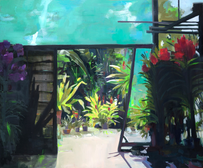 El  vivero |Pintura de Carmen Montero | Compra arte en Flecha.es