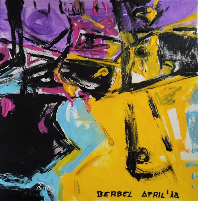 Purple number 4 |Pintura de mhberbel | Compra arte en Flecha.es
