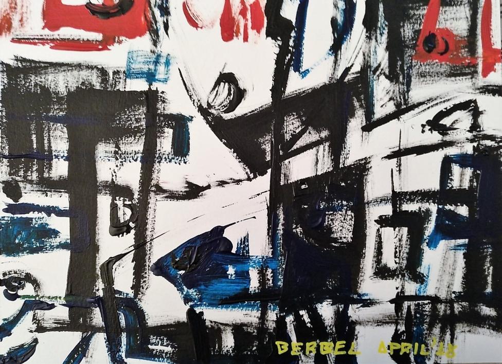 Power of black number 2 |Pintura de Manuel Berbel | Compra arte en Flecha.es
