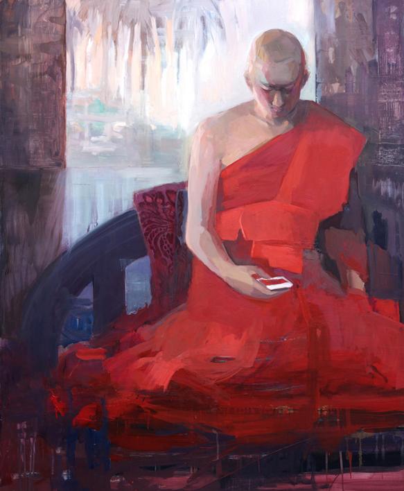 El joven monje |Pintura de Carmen Montero | Compra arte en Flecha.es