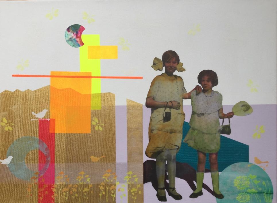Las primas |Collage de Olga Moreno Maza | Compra arte en Flecha.es