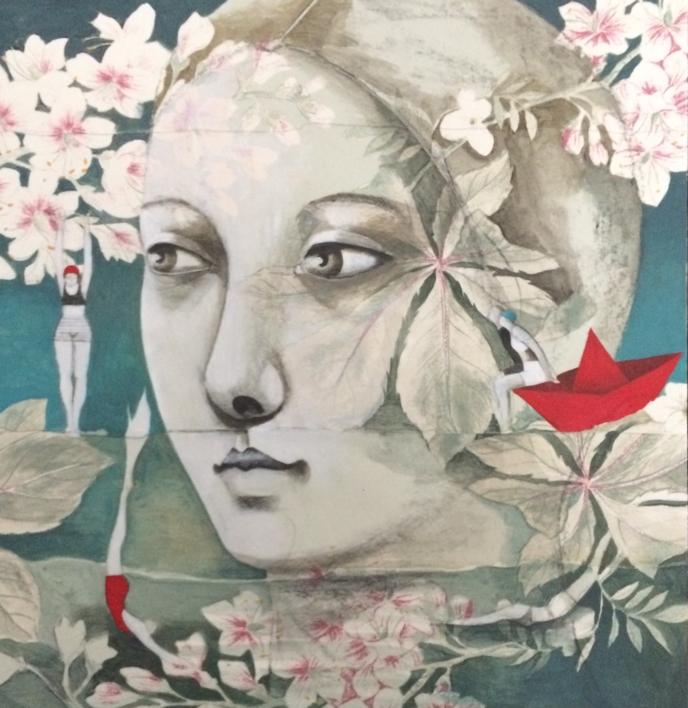 La mar de jardines III |Pintura de Menchu Uroz | Compra arte en Flecha.es