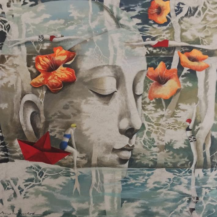 La mar de jardines I  Pintura de Menchu Uroz   Compra arte en Flecha.es