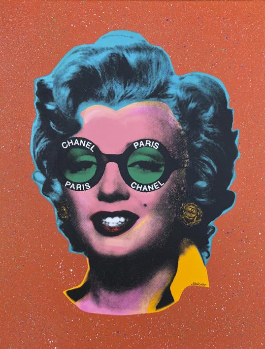 Marilyn Chanel No. 3  Pintura de Silvio Alino   Compra arte en Flecha.es
