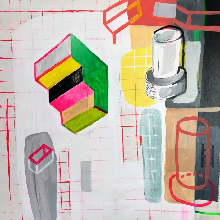 Escaleras para bajar al origen |Pintura de Ángel Celada | Compra arte en Flecha.es