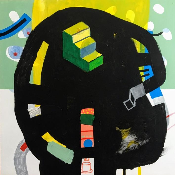 Escaleras para subir al interior |Collage de Ángel Celada | Compra arte en Flecha.es