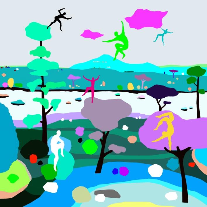 Parkour salvaje (Wild parkour) |Dibujo de ALEJOS | Compra arte en Flecha.es