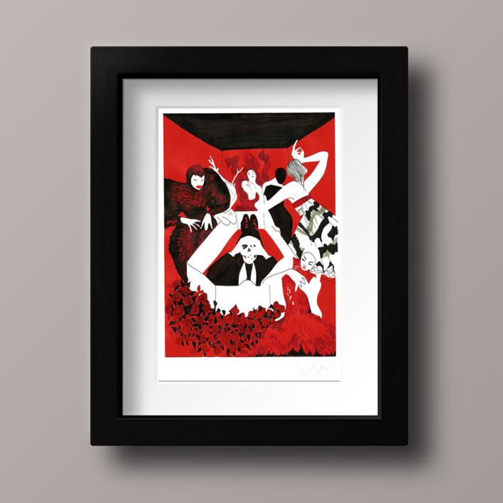 Alexander McQueen |Collage de Ignacio Lobera | Compra arte en Flecha.es