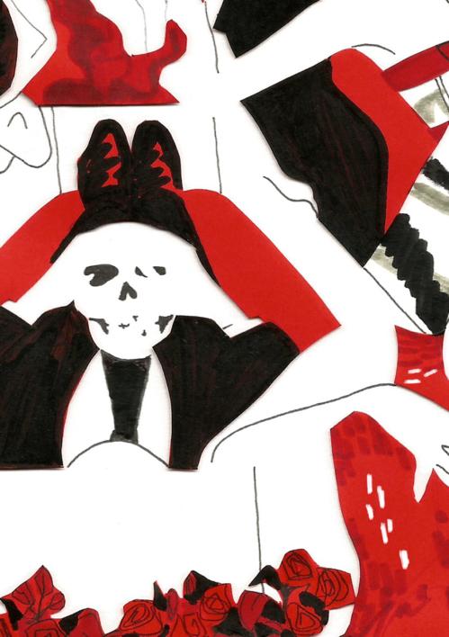 Alexander McQueen | Collage de Ignacio Lobera | Compra arte en Flecha.es