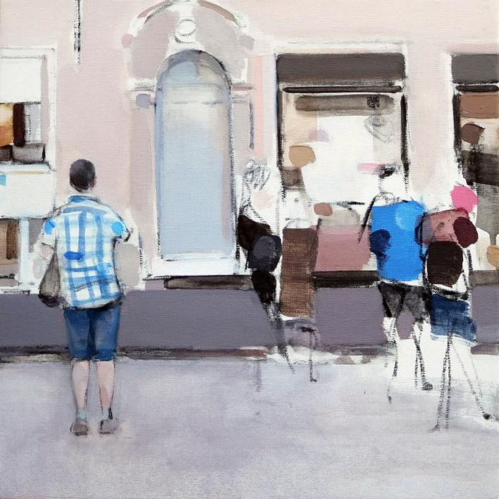 Taking door |Pintura de Saracho | Compra arte en Flecha.es