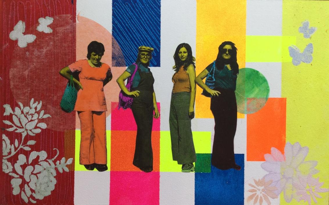 Los 70 |Collage de Olga Moreno Maza | Compra arte en Flecha.es