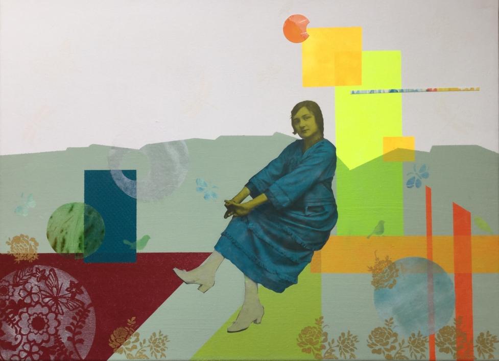 Josefina |Collage de Olga Moreno Maza | Compra arte en Flecha.es