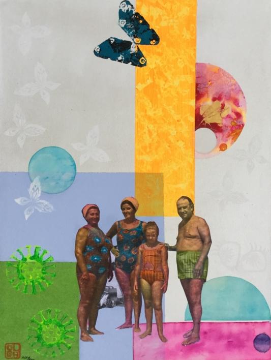 Verano |Collage de Olga Moreno Maza | Compra arte en Flecha.es