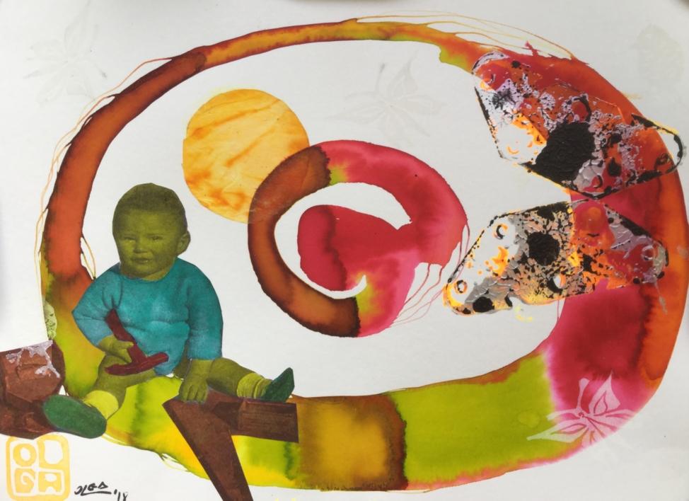 No había más juguetes |Collage de Olga Moreno Maza | Compra arte en Flecha.es
