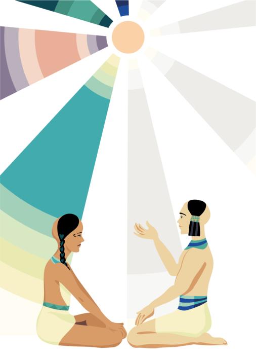 Me habla de ritos pero no sabe qué es el espíritu |Dibujo de Sara Novovitch | Compra arte en Flecha.es