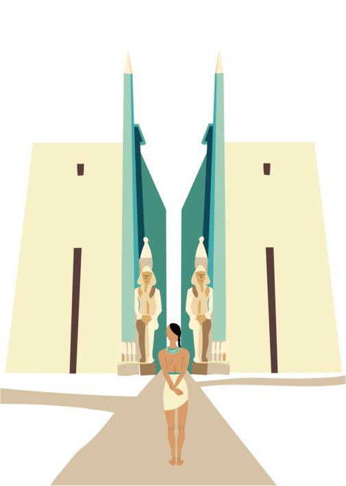 Tebas debe ser una ciudad importante |Dibujo de Sara Novovitch | Compra arte en Flecha.es