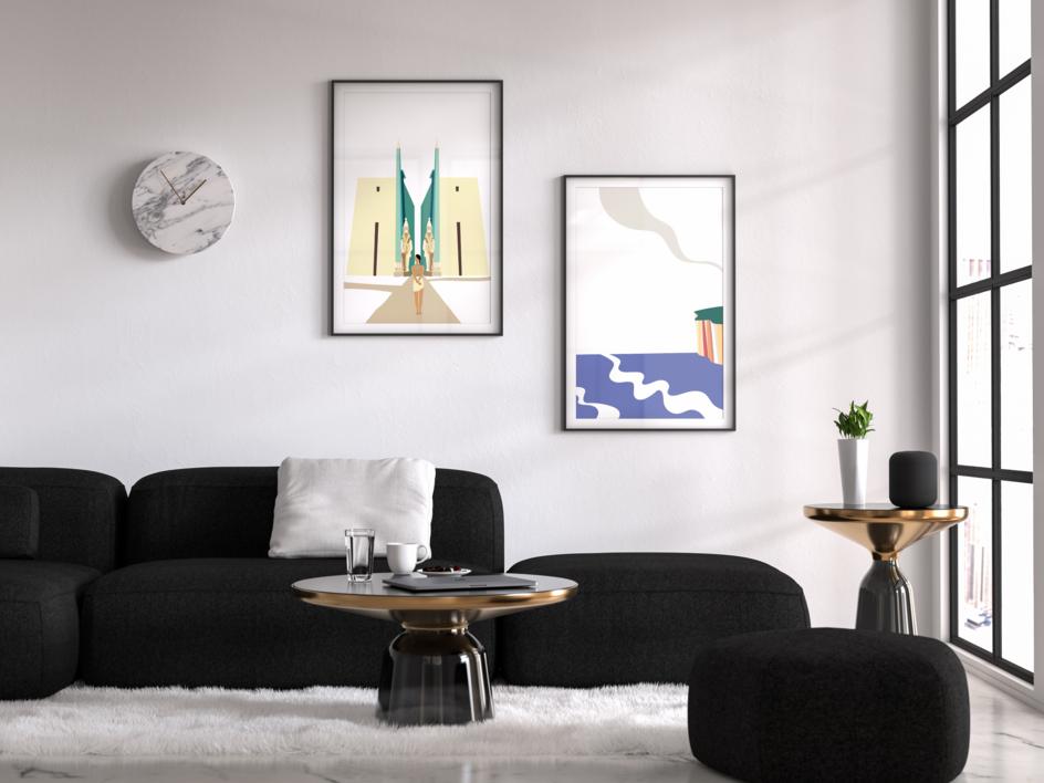 Tebas debe ser una ciudad importante | Dibujo de Sara Novovitch | Compra arte en Flecha.es