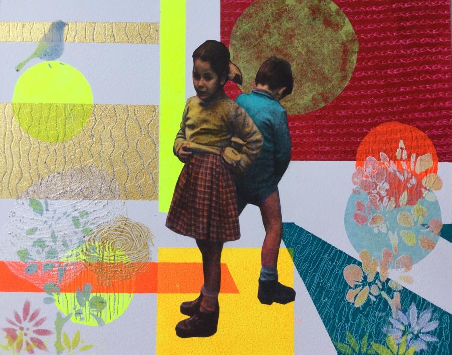 No  nos ven |Collage de Olga Moreno Maza | Compra arte en Flecha.es