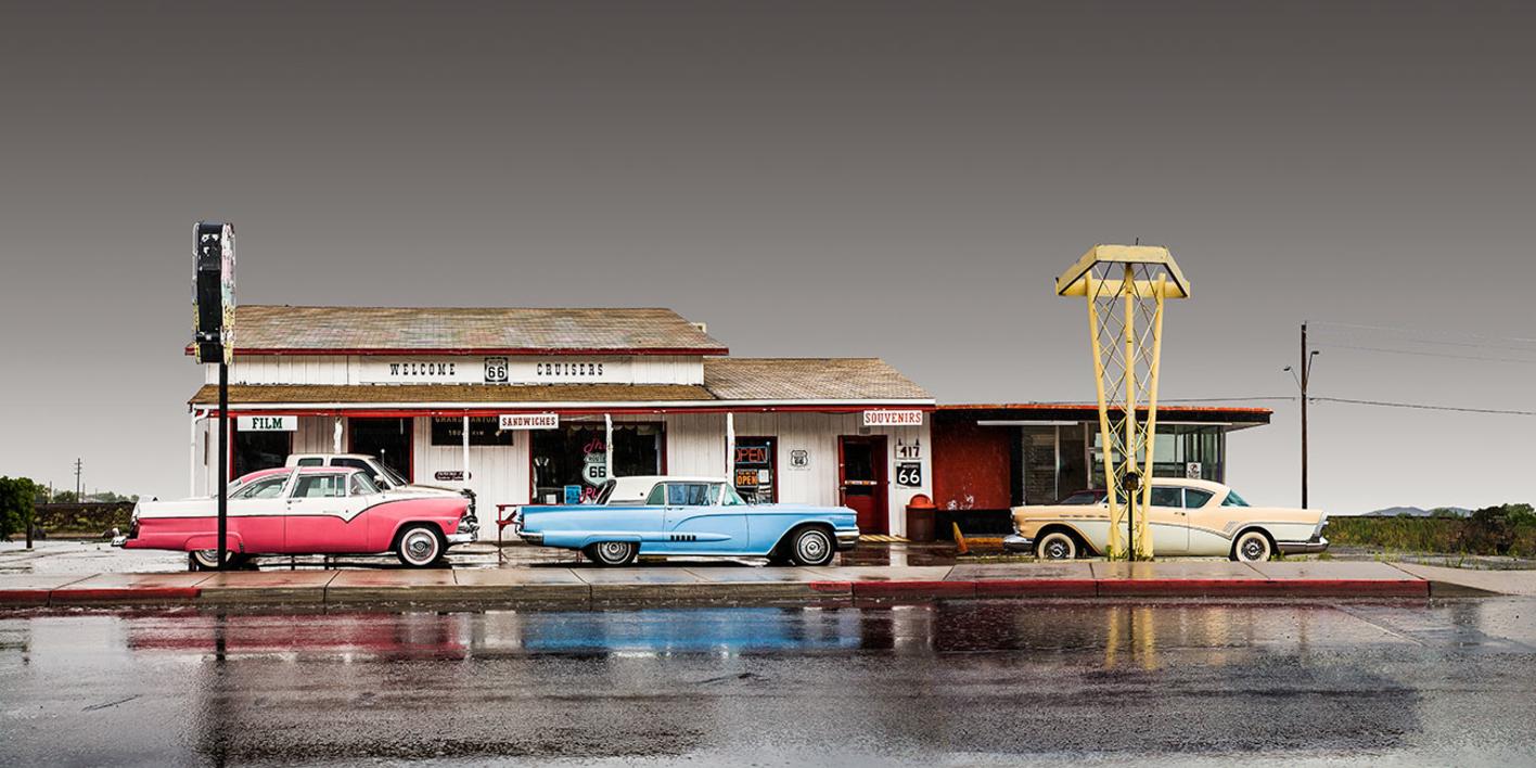 Cruisers Route 66, Arizona, USA |Fotografía de Andy Sotiriou | Compra arte en Flecha.es