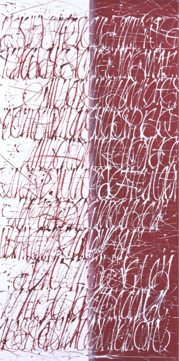 Dualidad en rojo |Pintura de Jorge Regueira | Compra arte en Flecha.es
