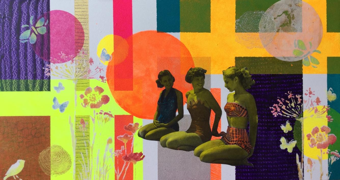 Tres |Collage de Olga Moreno Maza | Compra arte en Flecha.es