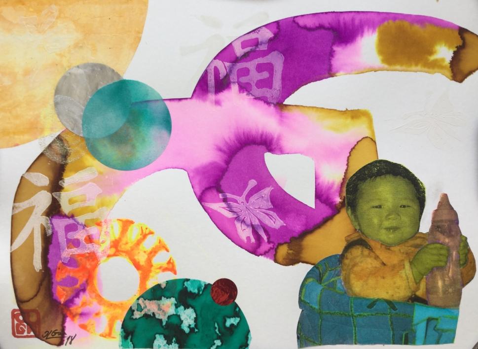 Ser feliz | Collage de Olga Moreno Maza | Compra arte en Flecha.es
