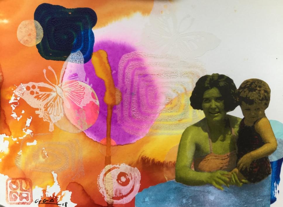 Primer verano |Collage de Olga Moreno Maza | Compra arte en Flecha.es