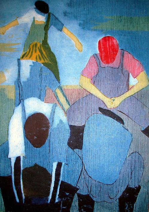 Los pescadores II |Obra gráfica de Jenifer Carey | Compra arte en Flecha.es