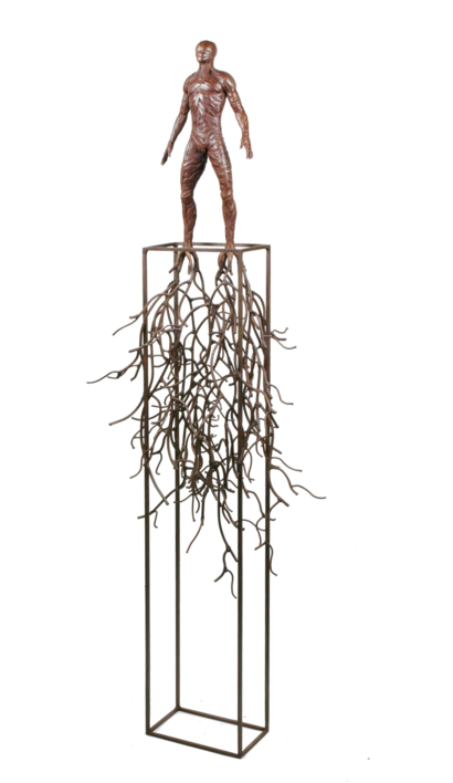 HOMBRE RAÍCES |Escultura de Fernando Suárez | Compra arte en Flecha.es