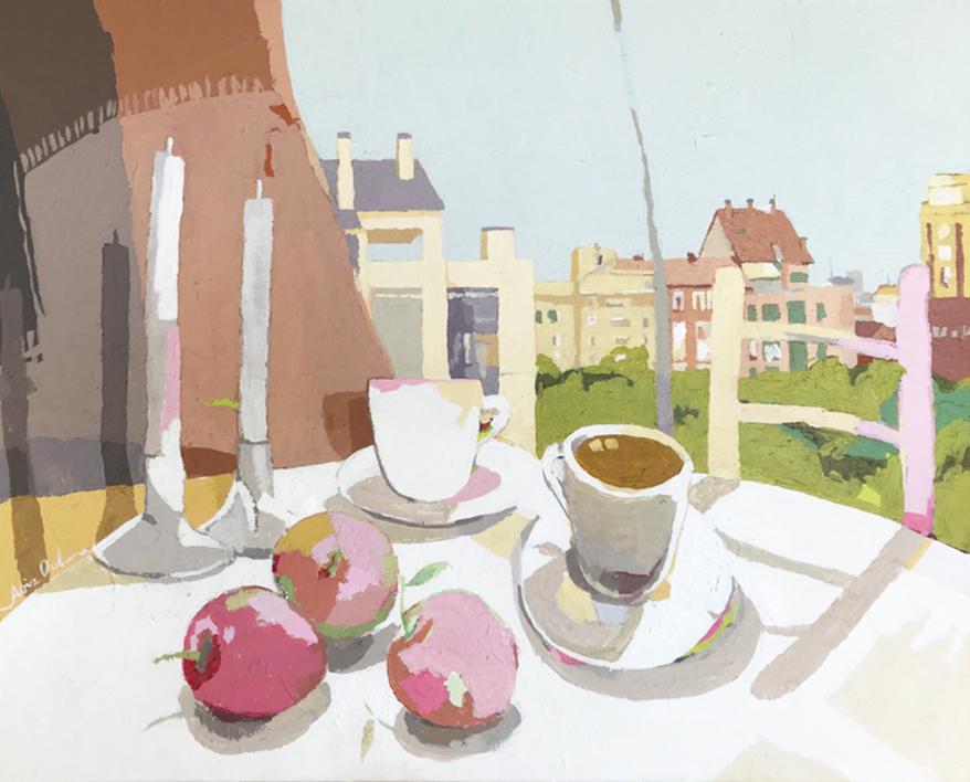 Desayuno con manzanas II |Pintura de Javier AOIZ ORDUNA | Compra arte en Flecha.es
