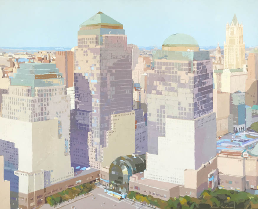 World Trade Center II | Pintura de Javier AOIZ ORDUNA | Compra arte en Flecha.es