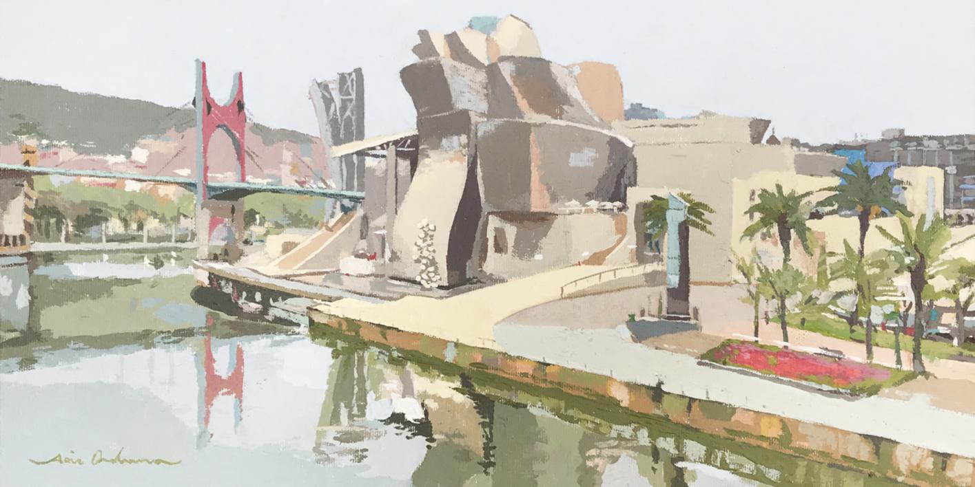 Guggenheim Bilbao I  Pintura de Javier AOIZ ORDUNA   Compra arte en Flecha.es