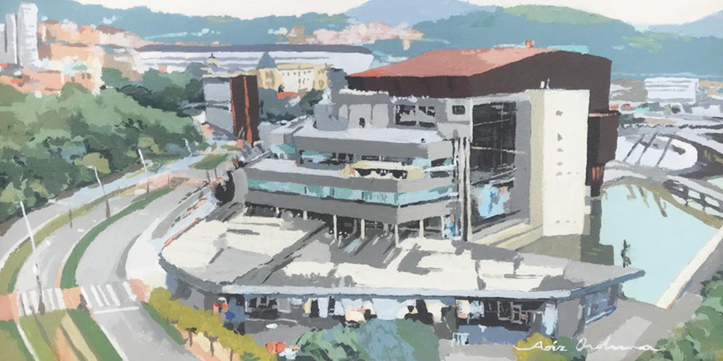 Euskalduna Bilbao II |Pintura de Javier AOIZ ORDUNA | Compra arte en Flecha.es