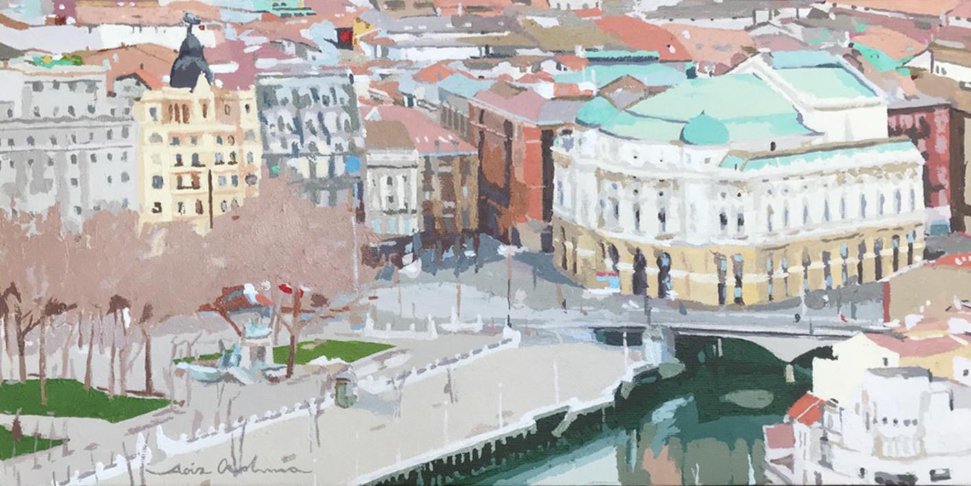 Arriaga Bilbao IV |Pintura de Javier AOIZ ORDUNA | Compra arte en Flecha.es