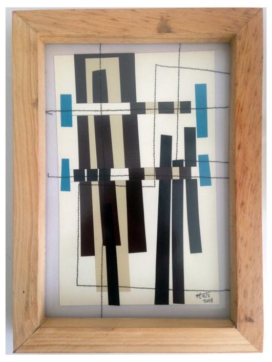 Dorado 18 |Collage de Fabiana Zapata | Compra arte en Flecha.es