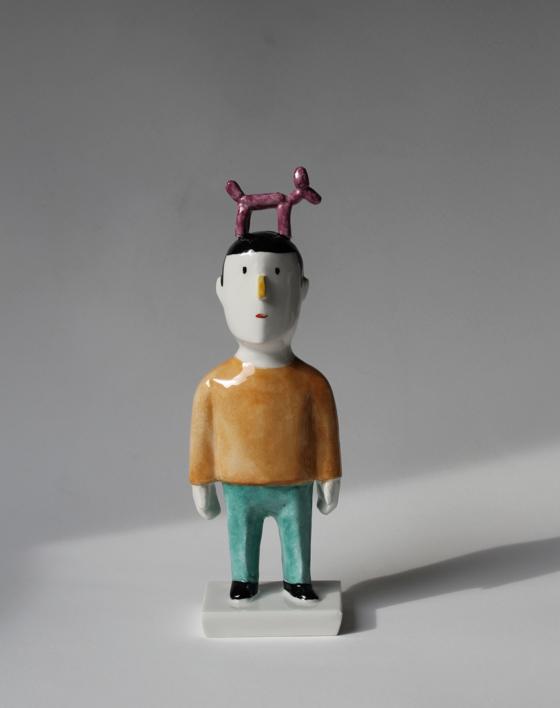 Pyrrho Jeef Koons  Escultura de Manuel Sánchez-Algora   Compra arte en Flecha.es