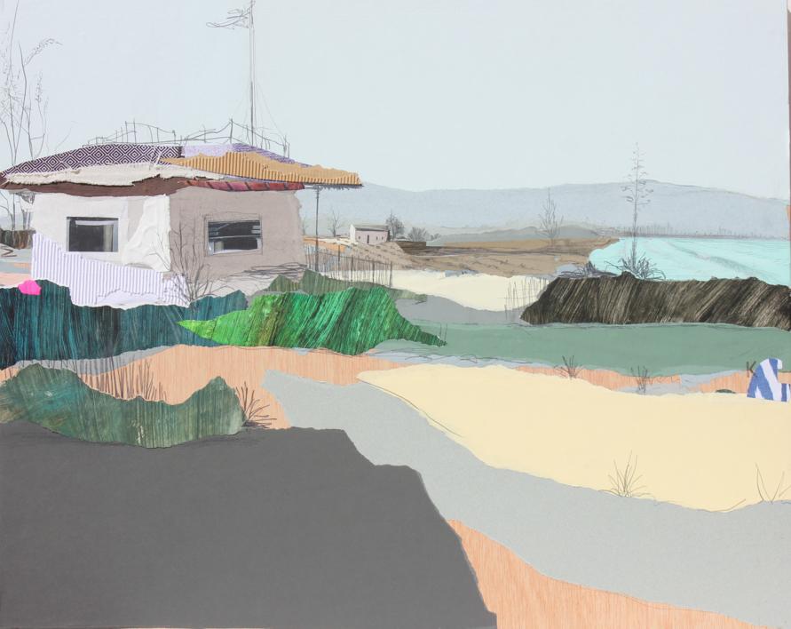 Bahía azul |Collage de Eduardo Query | Compra arte en Flecha.es