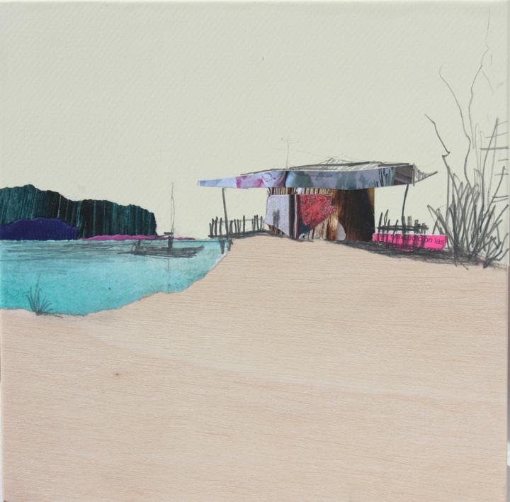 La casa del lago |Collage de Eduardo Query | Compra arte en Flecha.es