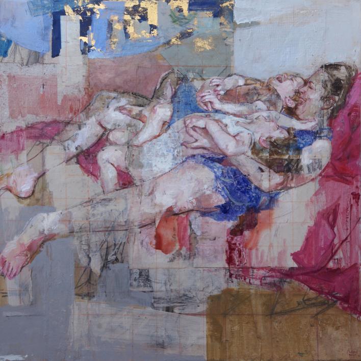 El tiempo suspendido  Collage de Pilar López Báez   Compra arte en Flecha.es