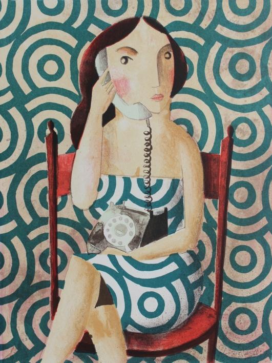 THE CALL |Obra gráfica de Didier Lourenço | Compra arte en Flecha.es