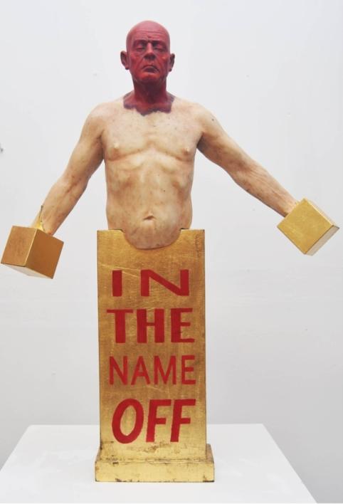 In the name OFF |Escultura de Francisco Hernández Díaz | Compra arte en Flecha.es
