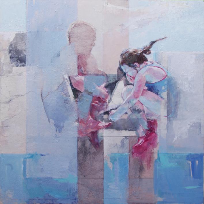 Los saltos |Collage de Pilar López Báez | Compra arte en Flecha.es