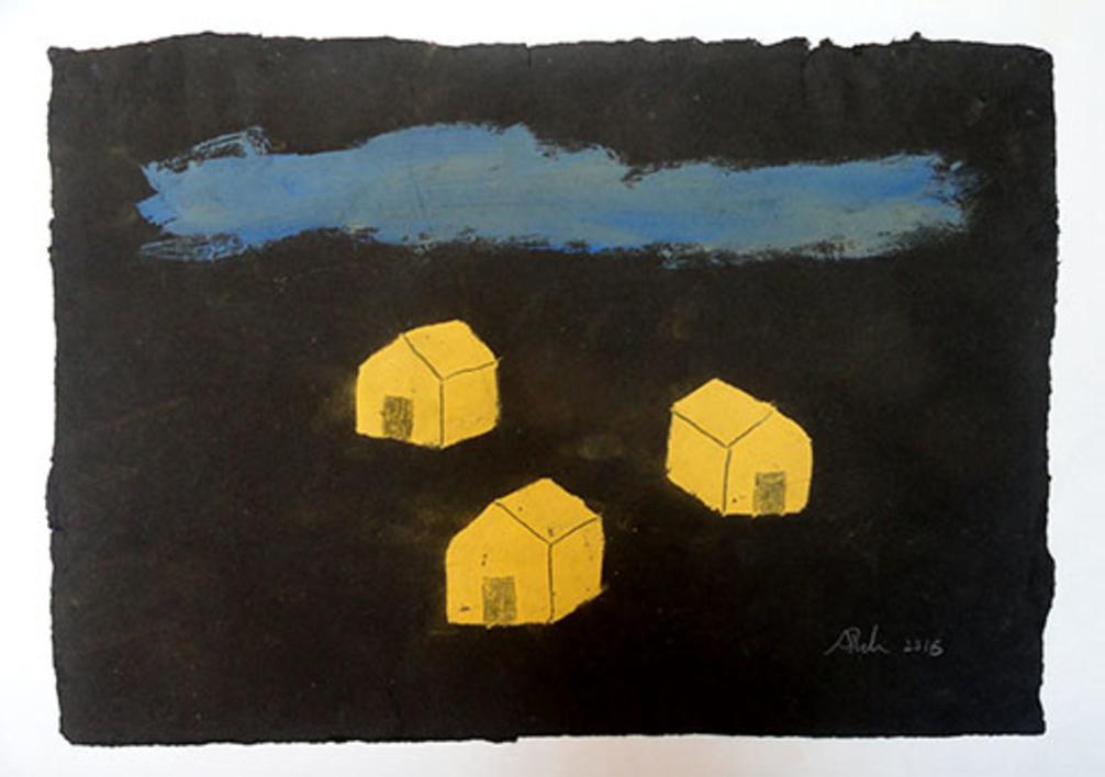 Tormenta |Pintura de Ana Pellón | Compra arte en Flecha.es