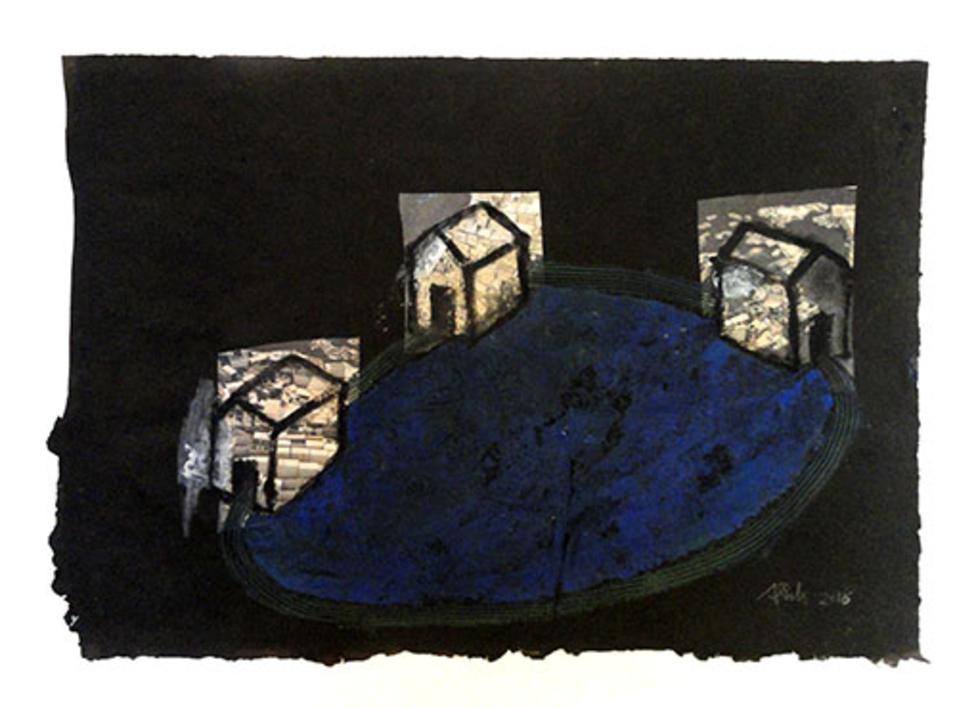 lago |Collage de Ana Pellón | Compra arte en Flecha.es
