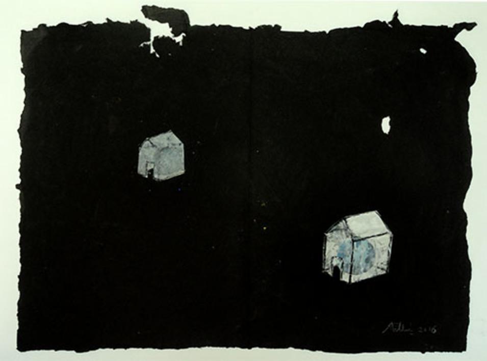 Casas |Pintura de Ana Pellón | Compra arte en Flecha.es