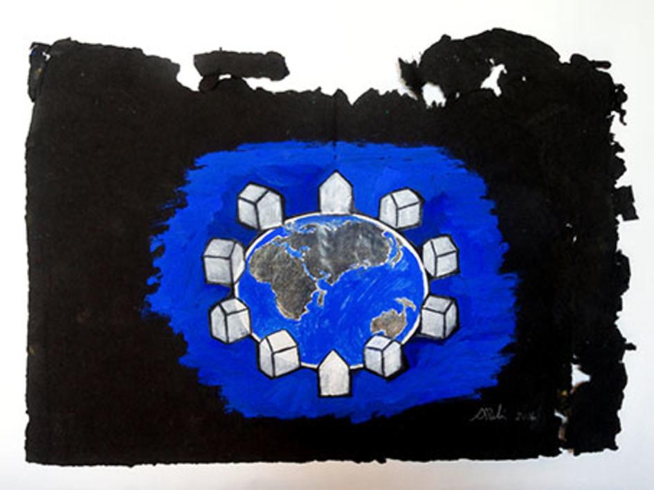 Mundo  Pintura de Ana Pellón   Compra arte en Flecha.es