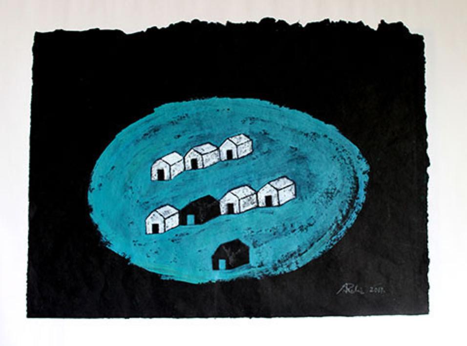 Isla  Pintura de Ana Pellón   Compra arte en Flecha.es